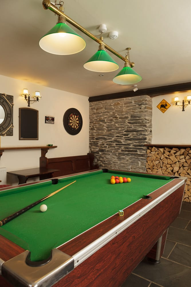 Pool table at The Globe Inn, Frogmore