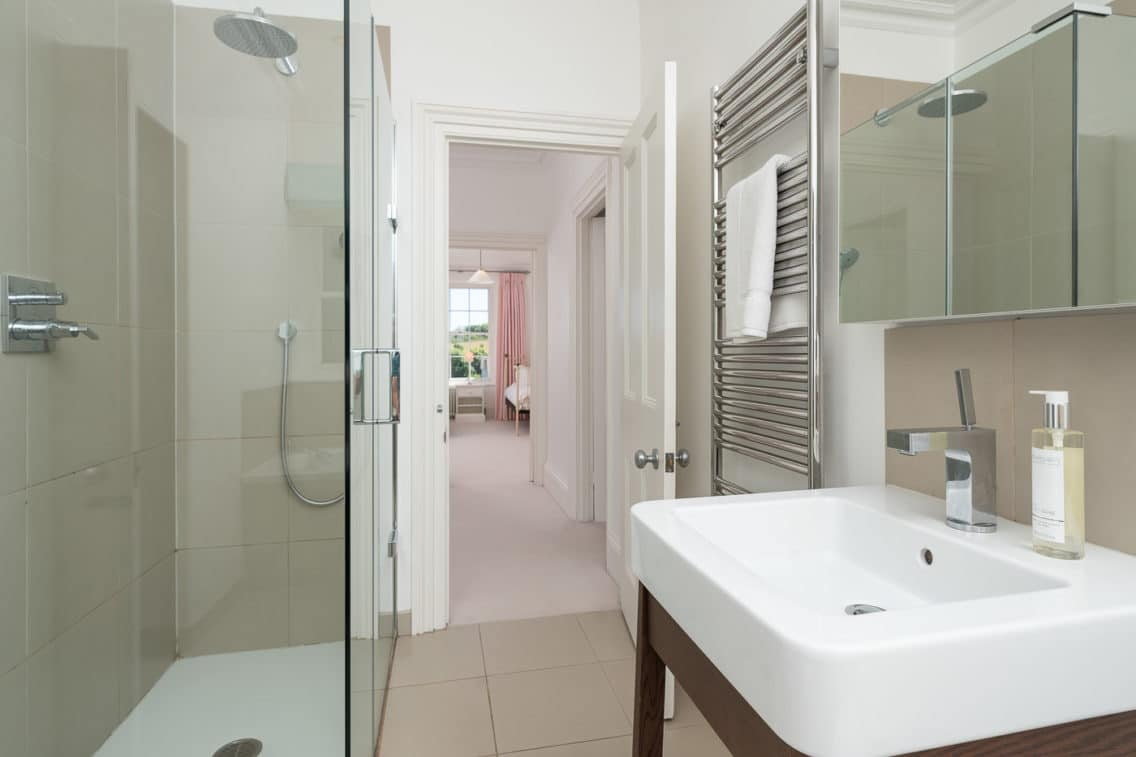 Bathroom Photography with view through to the bedroom